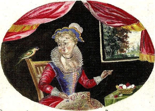 Anna Maria Thelott (självporträtt?)