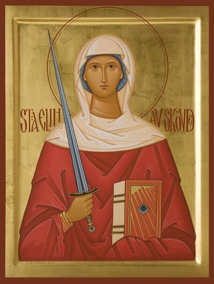 Elin (Helena) av Skövde (målad till S:ta Helena kyrka, Skövde)