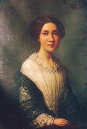 Thekla Knös, porträtt av Alida Rabe