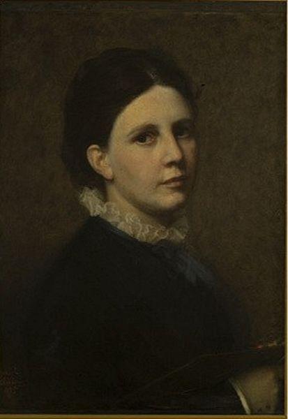 Sophie Ribbing, självporträtt, Uffizierna, Florens