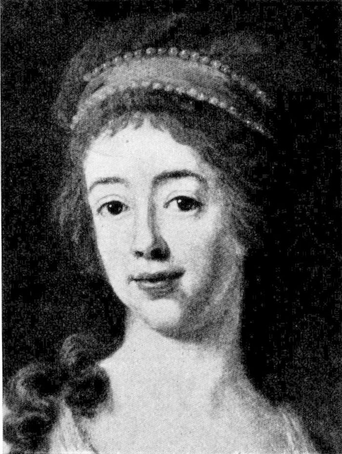 Charlotta d'Albedyhll, porträtt av Carl Fredric von Breda, 1785