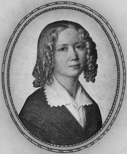 Cecilia Fryxell, porträtt av Uno Troili, 1843 (Kalmar läns museum)