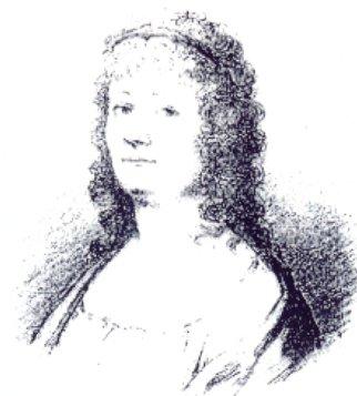 Ulrica Widström, teckning av J.G Sanberg efter M.V Krafft