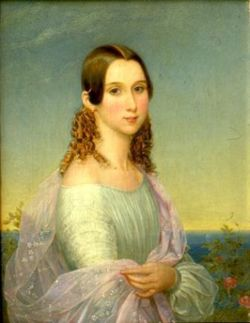 Prinsessan Eugénie, porträtt av Nils Blommér 1846