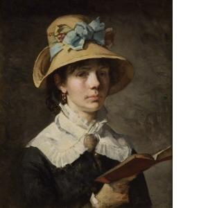 Amanda Sidwall, självporträtt (Nationalmuseum)