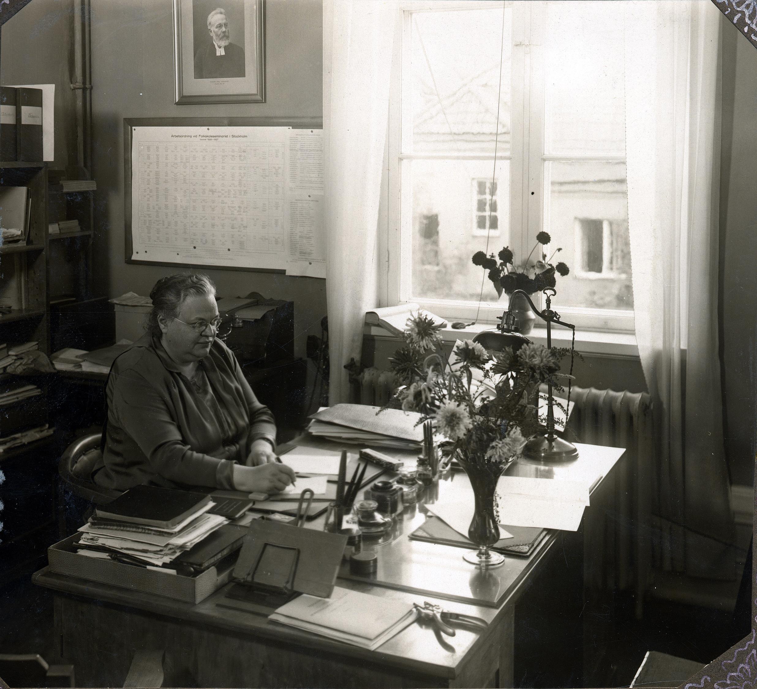 Rektor Anna Sörensen (KvinnSam, Göteborgs universitetsbibliotek)