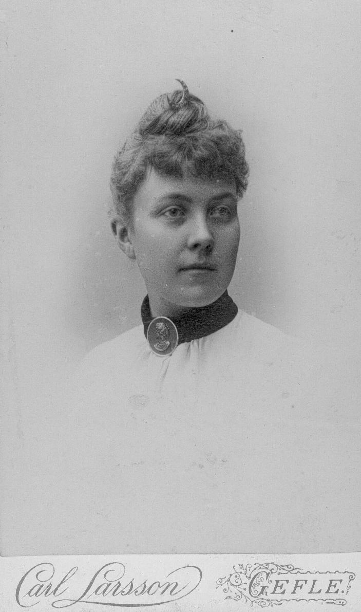 Ida Gawell-Blumenthal. Fotograf: Carl J. Larsson (Länsmuseet Gävleborg)