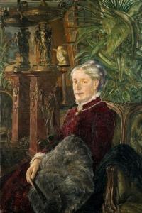 Göthilda Fürstenberg, porträtt av Ernst Josephson 1884 (Göteborgs konstmuseum)