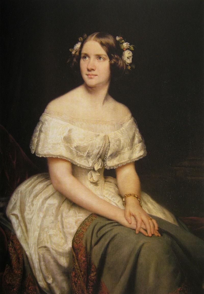 Jenny Lind, porträtt av Eduard Magnus, 1862
