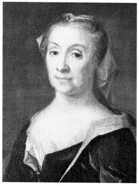 Christina Charlotta Hjärne, porträtt av J.H. Scheffel