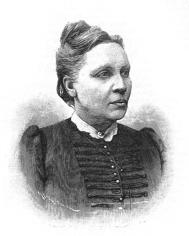 Elfrida Andrée, porträtt av Gunnar Forssell, Idun 1891