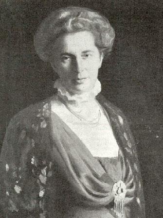 Elna Tenow, porträtt av Emil Österman, 1912