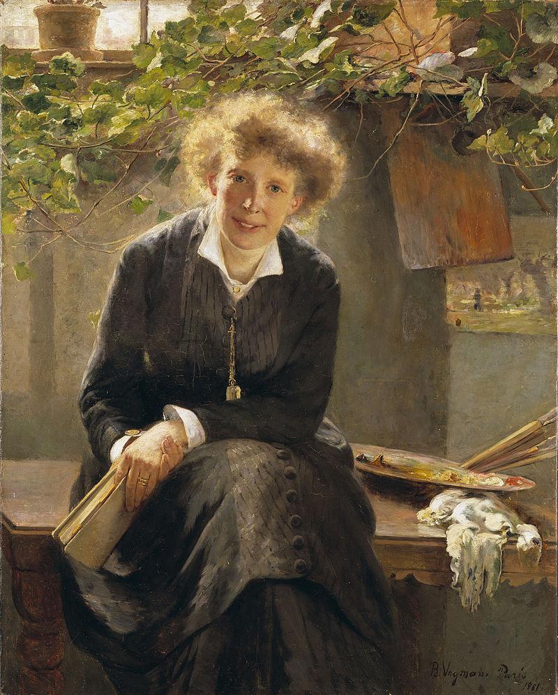 Konstnären Jeanna Bauck, porträtt av Bertha Wegmann (Nationalmuseum)