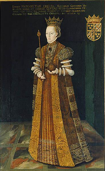 Margareta, drottning, porträtt av Johan Baptista van Uther