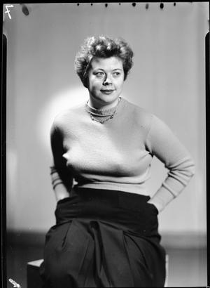 Sigrid Kahle. Fotograf: Gunnar Sundgren (Uppsala universitetsbibliotek)
