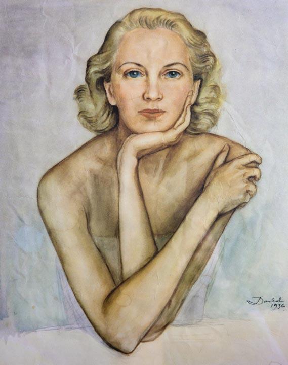 Edita Morris, porträtt av Nils Dardel