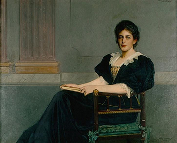 Ebba von Eckermann, porträtt av Julius Kronberg (1895)
