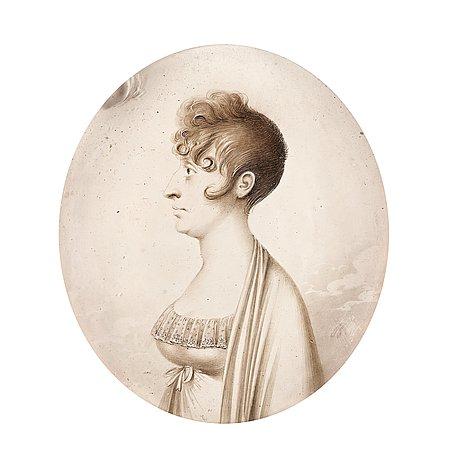 Elsa Fougt, miniatyr av Jacob Axel Gillberg, 1806