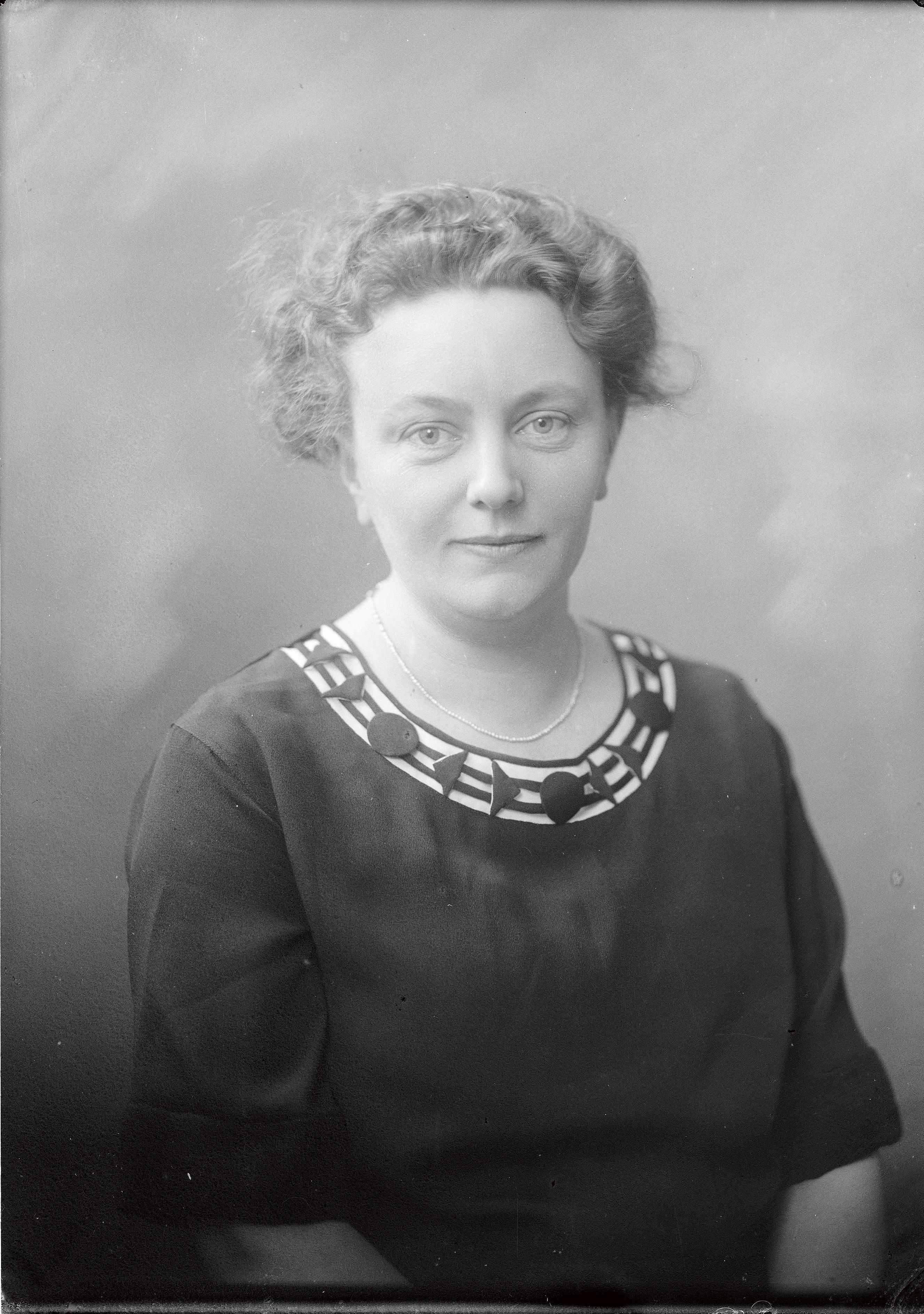 Anna Alin-Bosson, 1922. Photo: Per Bagge (1866-1936). Lund University Libraries, 65325:1
