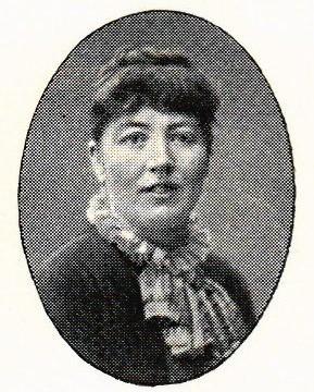 Wendela Andersson-Falck avbildad i Hildebrand, Albin och John Kruse (red), Svenskt porträttgalleri XX, Stockholm, 1901. Fotograf okänd