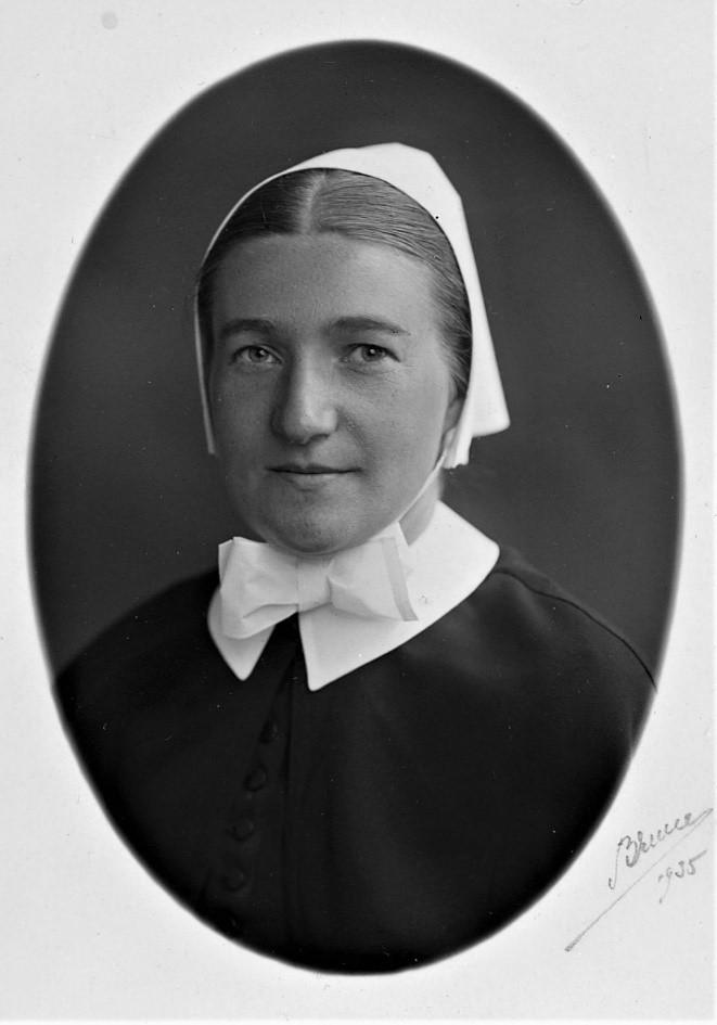 Greta Andrén, 1935. Photographer unknown. Svenska kyrkans arkiv, Uppsala