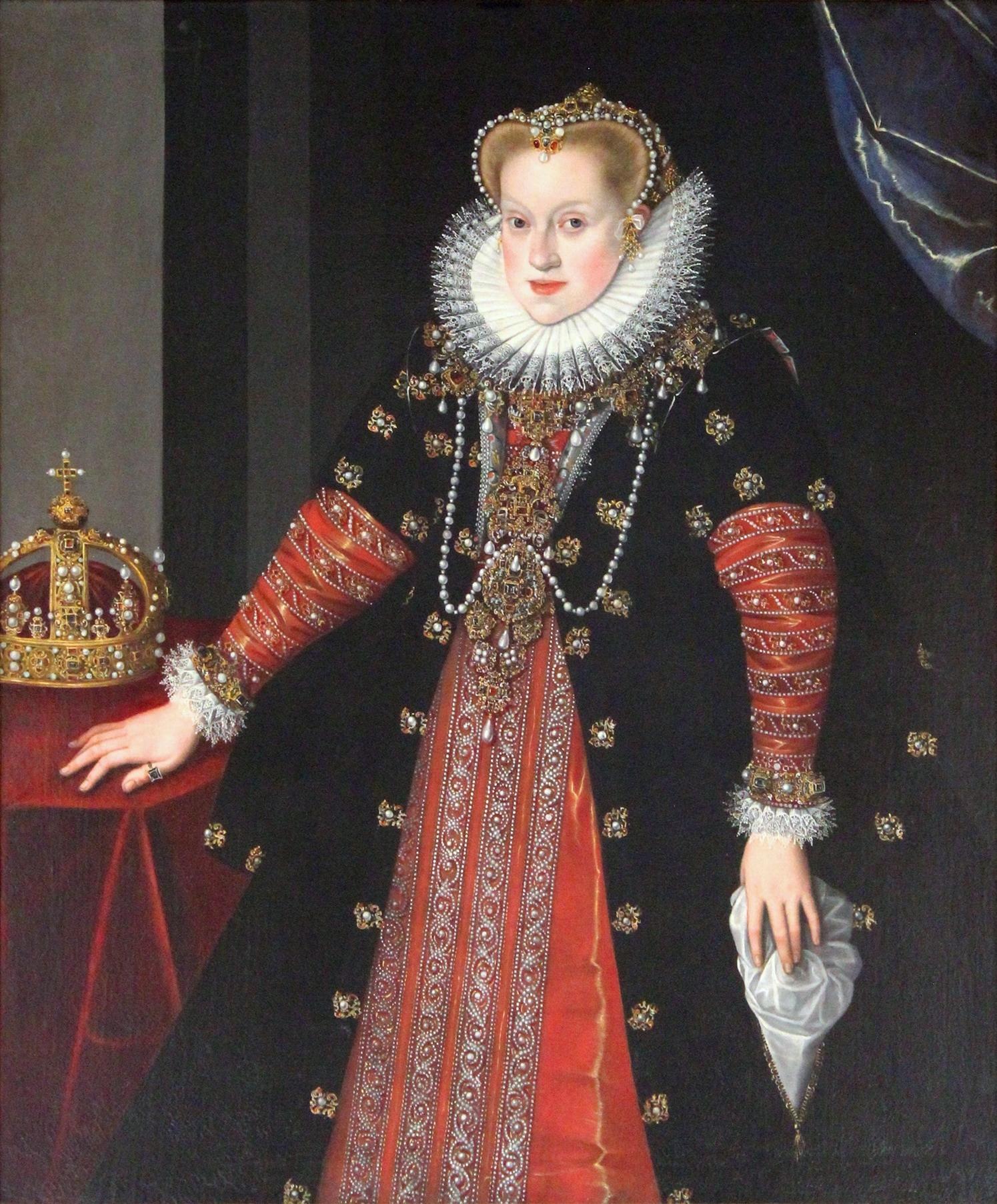 Anna, drottning av Sverige och Polen, cirka 1595. Målning (olja på duk) av Martin Kober (1550-1598). Foto: Kaho Mitsuki, 2017 (Wikimedia Commons)