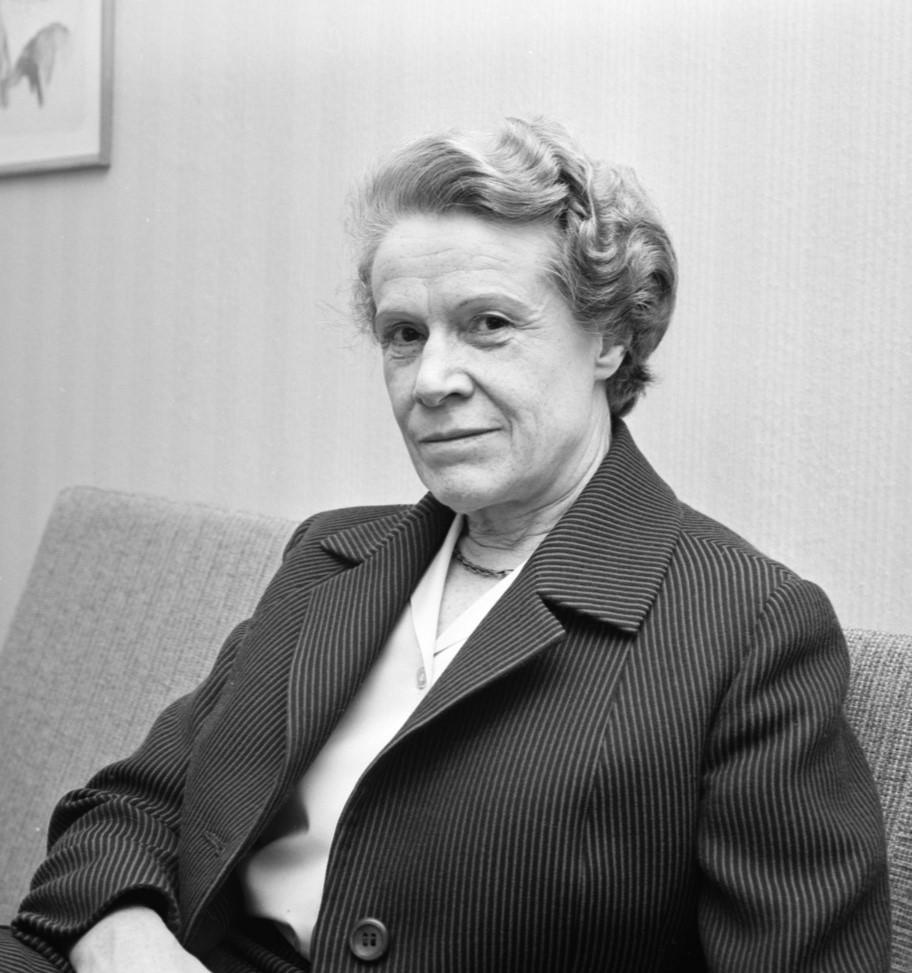 Anna-Lisa Annell, 1963. Foto: Uppsala-Bild. Upplandsmuseets samlingar (UB013849)