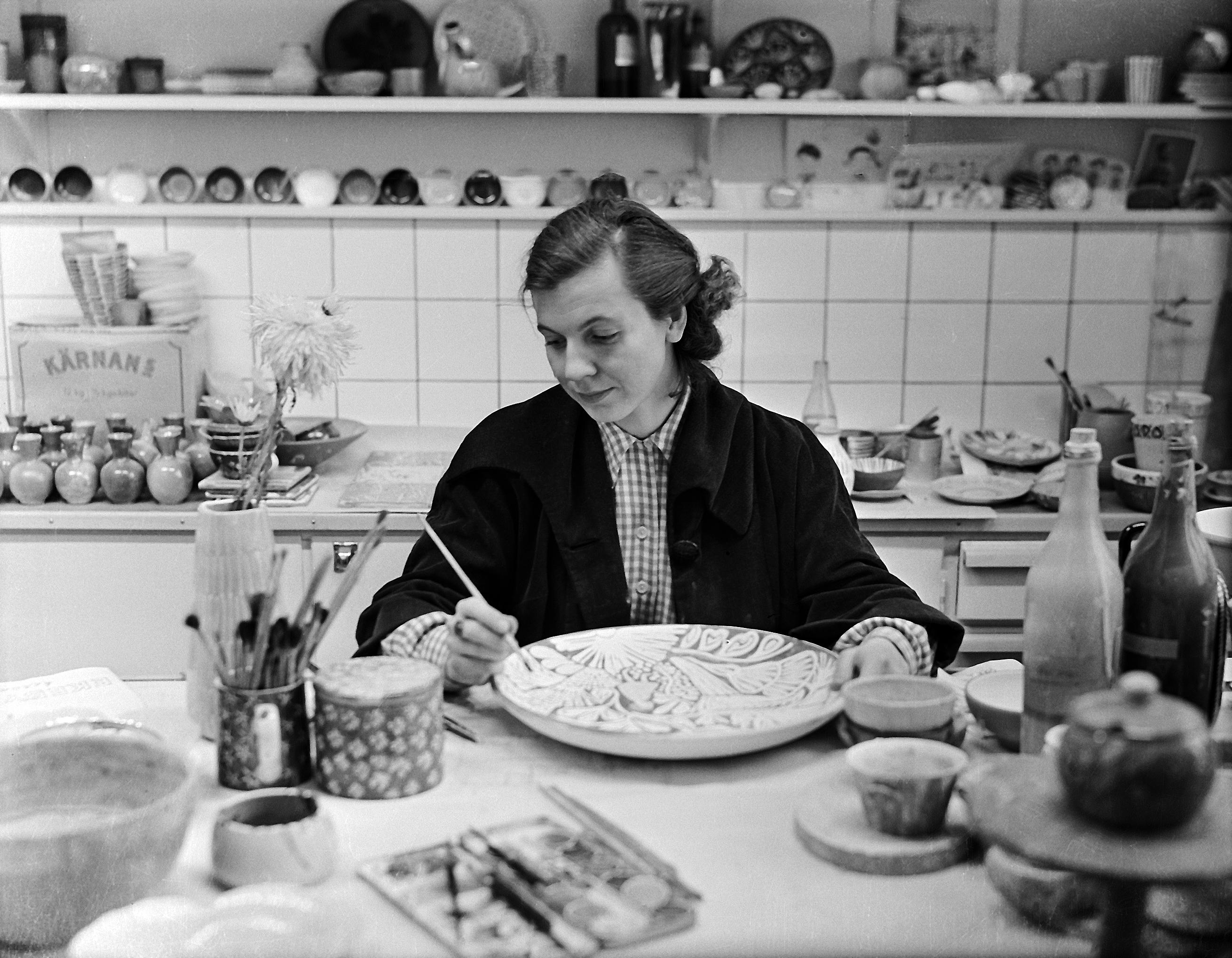 Ingrid Atterberg. Photographer and year unknown (Upplandsmuseet)