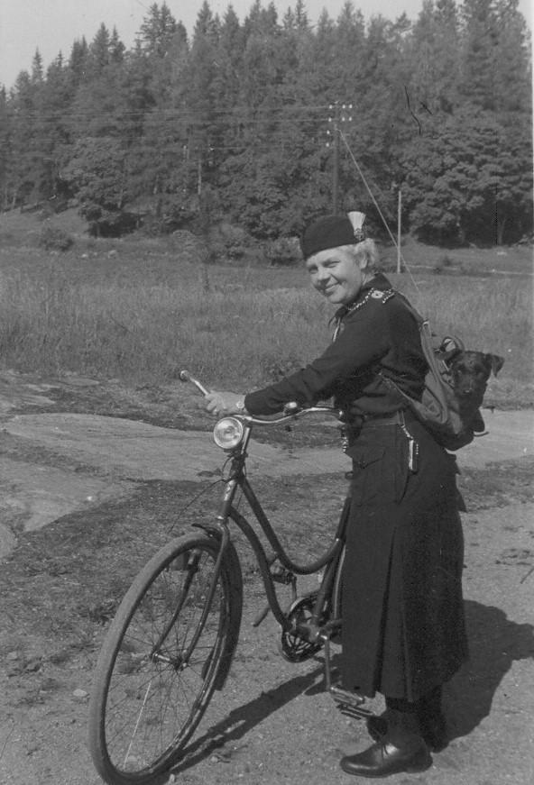 Gerda Bäckström, a.k.a. Ludde, 1943. Photographer unknown (Svenska Scoutförbundets Arkiv- och Museikommitté)