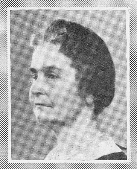 Louise von Bahr, avbildad i Idun, 1930. Fotograf okänd. Bildkälla: Svenskt Porträttarkiv (beskuren, CC-BY-NC-SA 4.0)