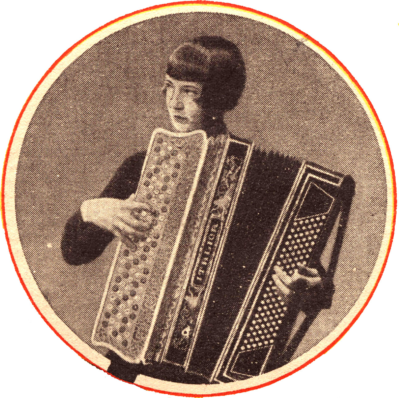 Stina Karlsson, Bångbro-Stina, on a cover of a recording in the Veckans Skiva series, 1932. Image source: Wikimedia Commons (from the collection of Fredrik Tersmeden)