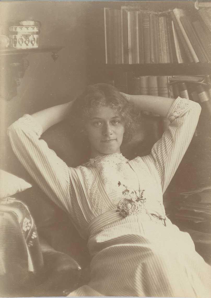 Greta Beckius. Fotograf och år okänt (KvinnSam, Göteborgs universitetsbibliotek)