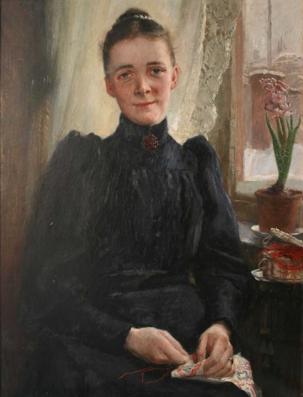Nina Benner-Anderson. Portrait by Fanny Brate, spring of 1893. In the possession of the Benner family. Photo: Johan Andersson
