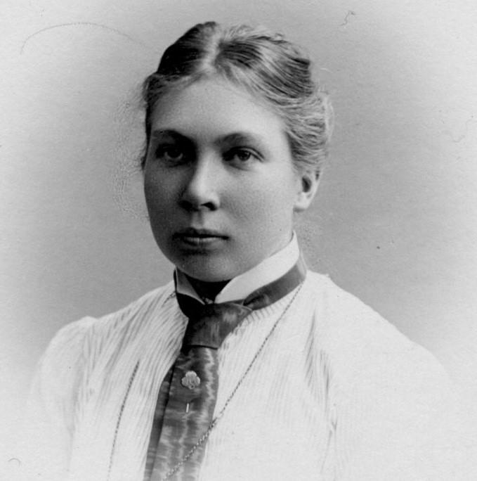 Maja Beskow. Fotograf och år okänt (Folkrörelsearkivet i Västerbotten/Västerbottens museum)