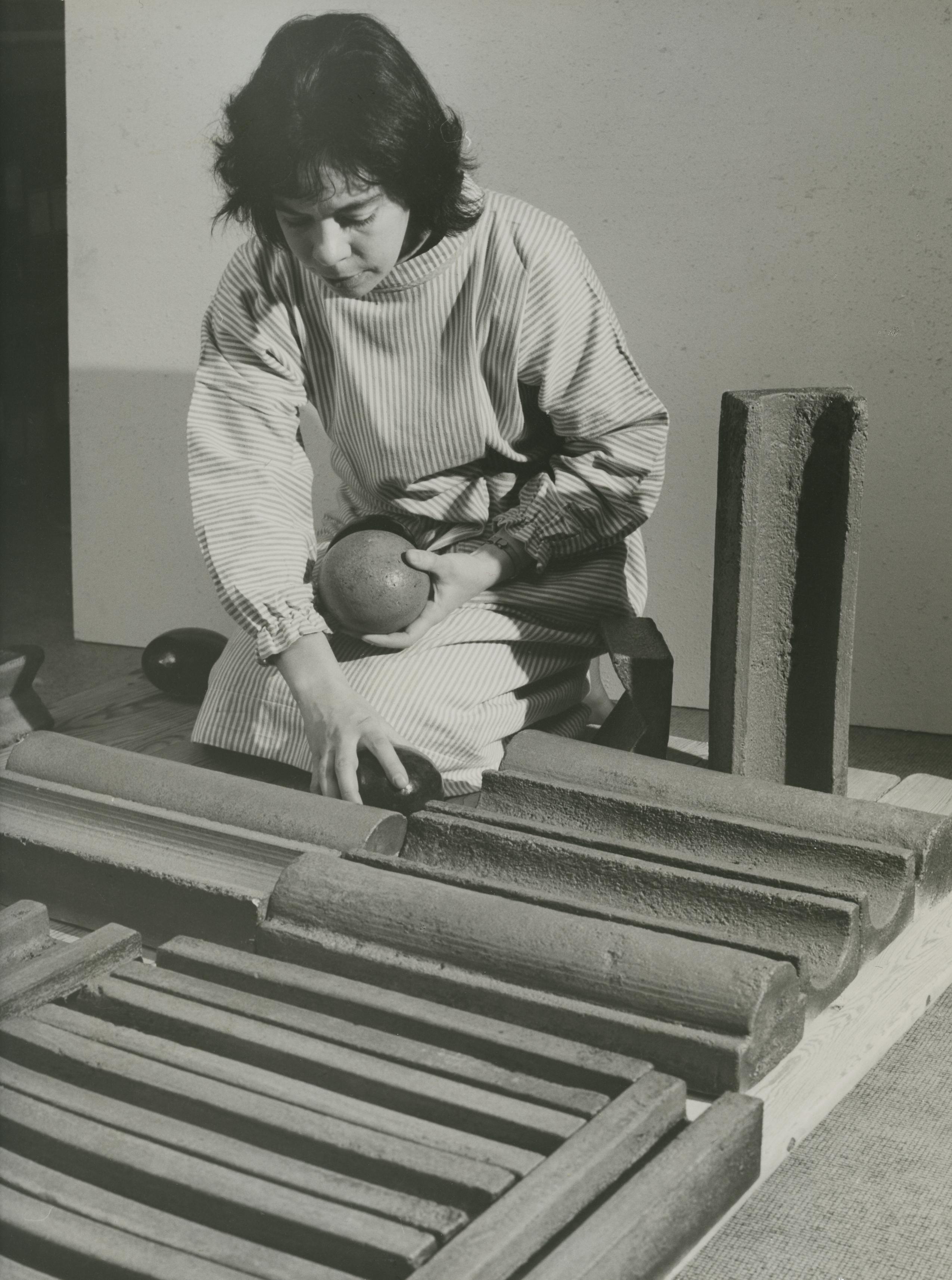 Karin Björquist, circa 1960s. Photo: Hilding Ohlson (1909-2002). Värmdö kommun, VKN000749