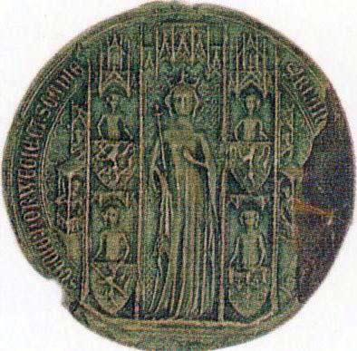 Royal seal for Blanche of Namur. Unknown master, 14th century. Image source: Wikimedia Commons