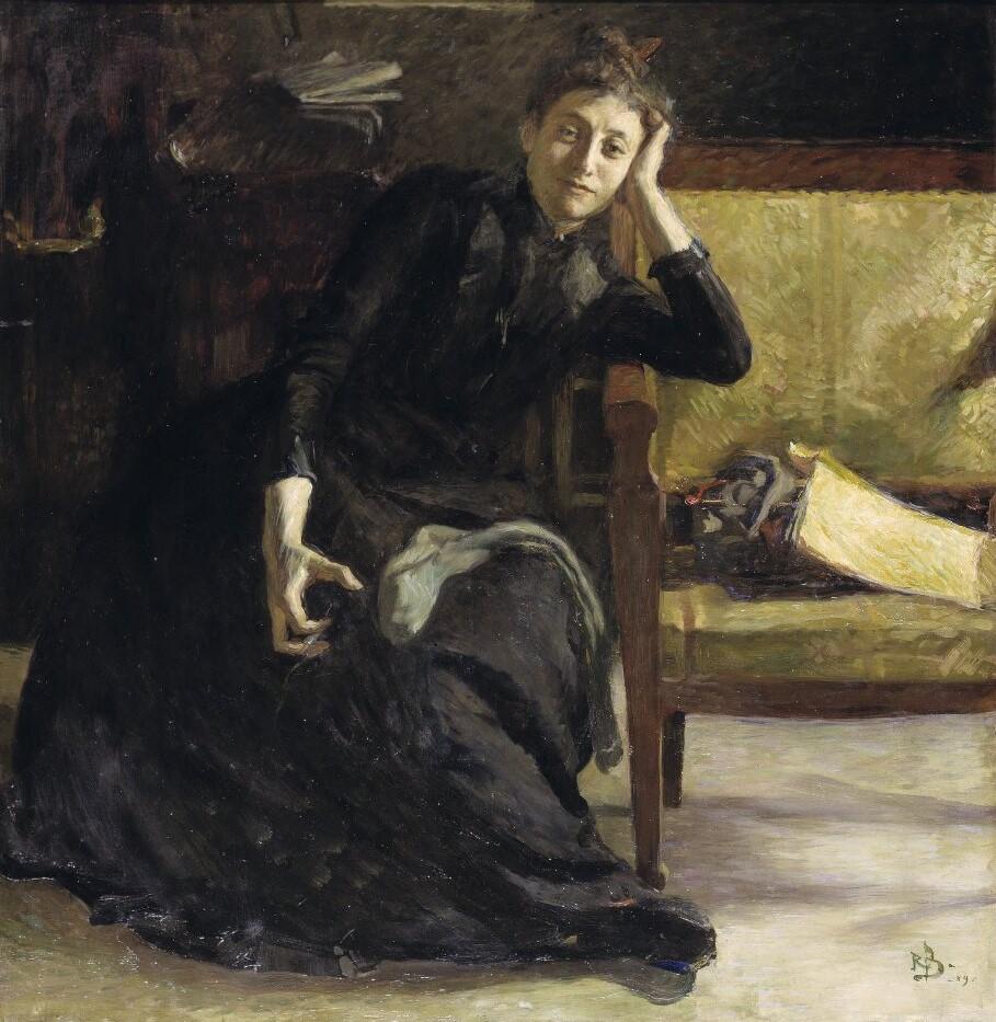 Eva Bonnier. Portrait (oil on canvas, 1889) by Richard Bergh (1858-1919). Nationalmuseum, NM 1507
