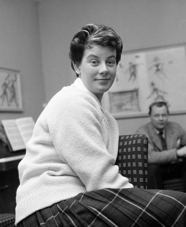 Brita Borg, 1959. Foto: Ragnhild Haarstad. Stockholms stadsmuseum (SvD 38715)