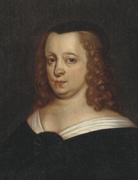 Ebba Brahe. Porträtt (olja på duk, år okänt) av Henrik Münnichhofen (?-1664). Nationalmuseum, NMGrh 1948
