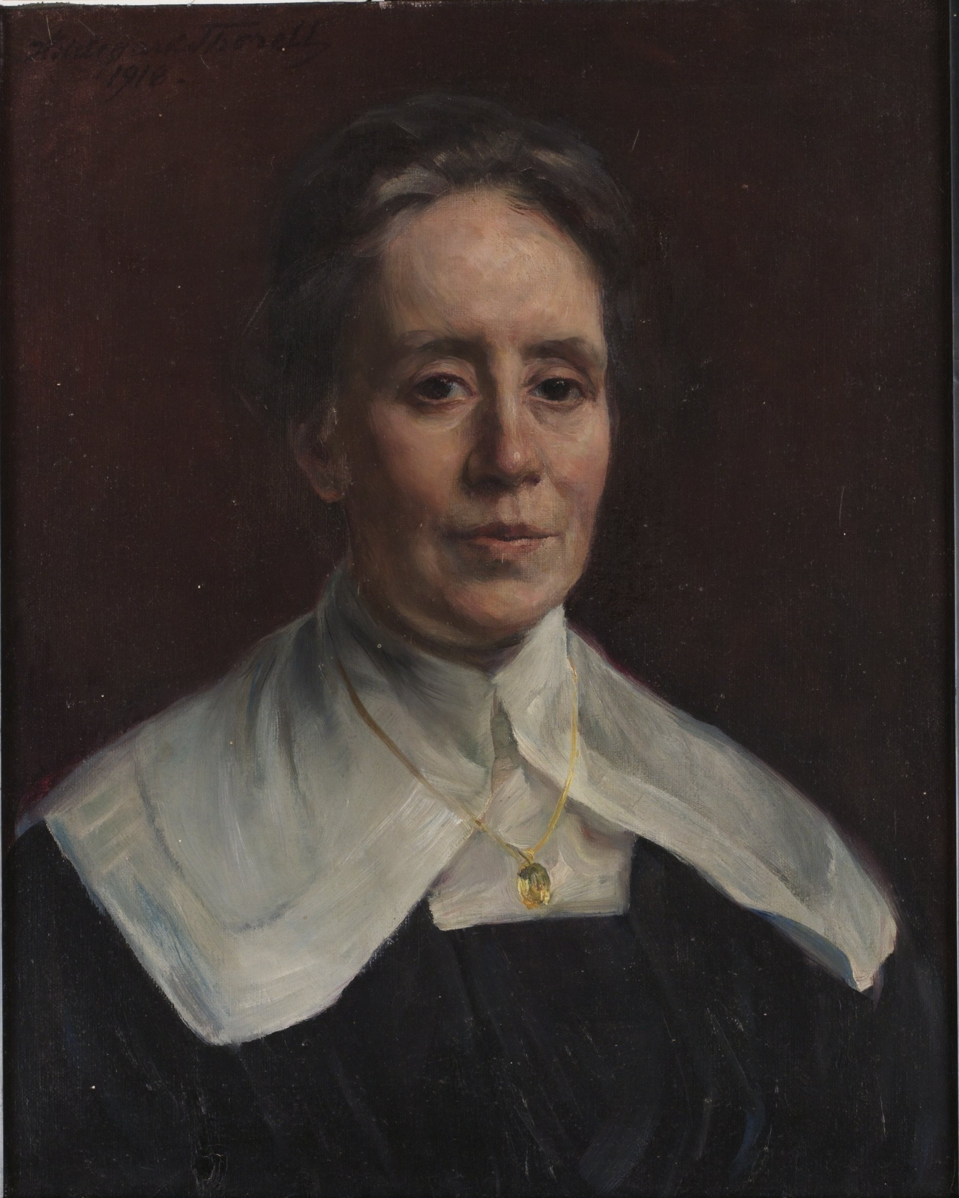 Fanny Brate painted 1918 by Hildegard Thorell (1850-1930). Image source: Wikimedia Commons