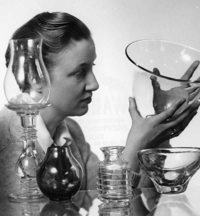 Monica Bratt, circa 1950s. Photographer unknown  (Reijmyre Glasbruk)