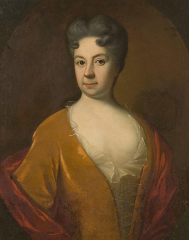 Sophia Brenner. Porträtt (olja på duk, år okänt) av Georg Engelhard Schröder (1684-1750). Nationalmuseum, NMGrh 994 (Foto: Hans Thorwid)