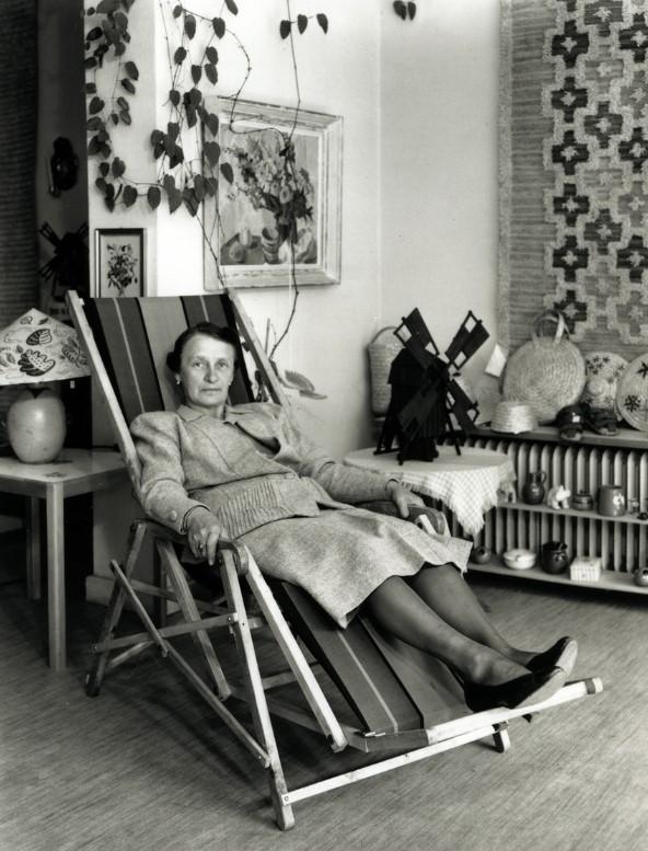 Gerda Brütte, year unknown. Photo: John Nilsson (Kalmar läns hemslöjdsförening)