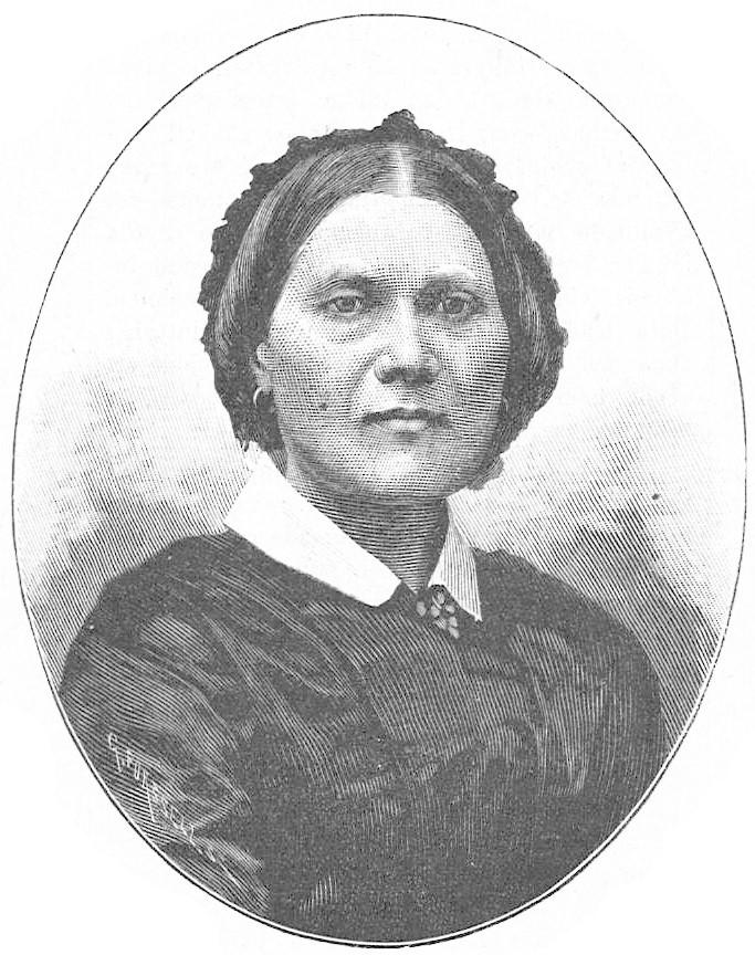 Maria Cederschiöld. Träsnitt av Gunnar Forssell (1859-1903) i Idun nr 21, 1892 (Wikimedia Commons)