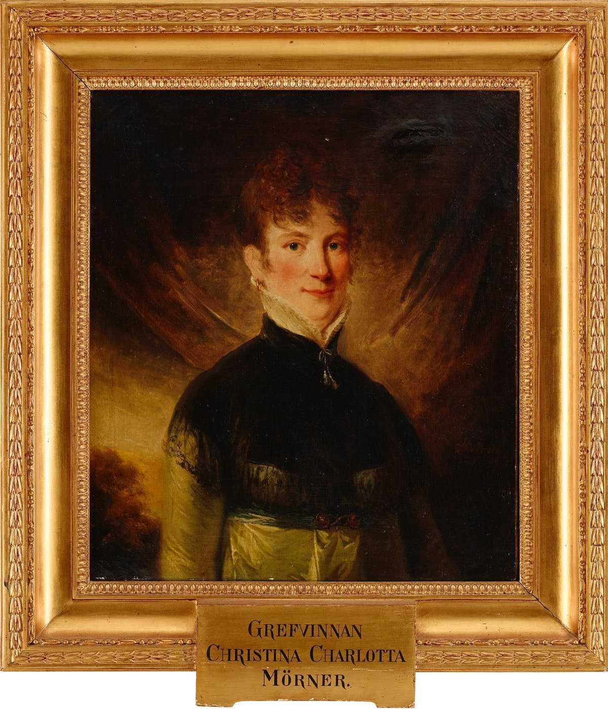 Charlotte Cederström (med födelsenamnet angivet). Porträtt av Carl Fredrik von Breda, 1804 (i privat ägo)