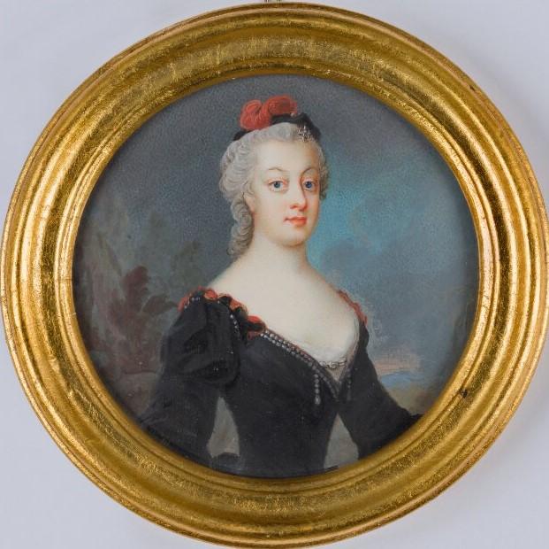 Catharina Charlotta de la Gardie. Porträtt (akvarell/gouache på pergament, år okänt) av Olof Arosenius (1700-1766). Nationalmuseum, NMB 333. Foto: Anna Danielsson