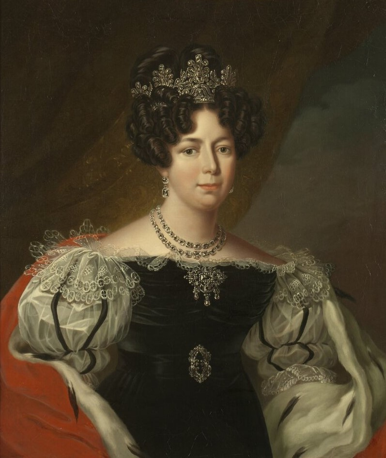 Queen Desideria of Sweden and Norway. Portrait (oil on canvas, year unknown) by Fredric Westin (1782-1862). Nationalmuseum, NMGrh 421 (Photo: Hans Thorwid, cropped)