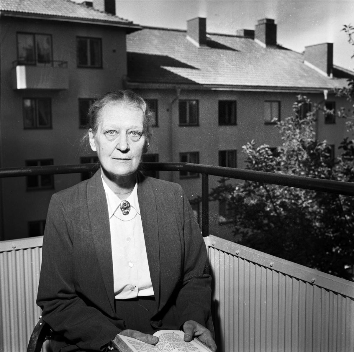 Elisabet Dillner, 1955. Foto: Uppsala-Bild. Upplandsmuseets samlingar (UB004353)