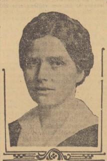 Ester Edelstam avbildad i Dagens Nyheter 25 januari 1925. Fotograf okänd
