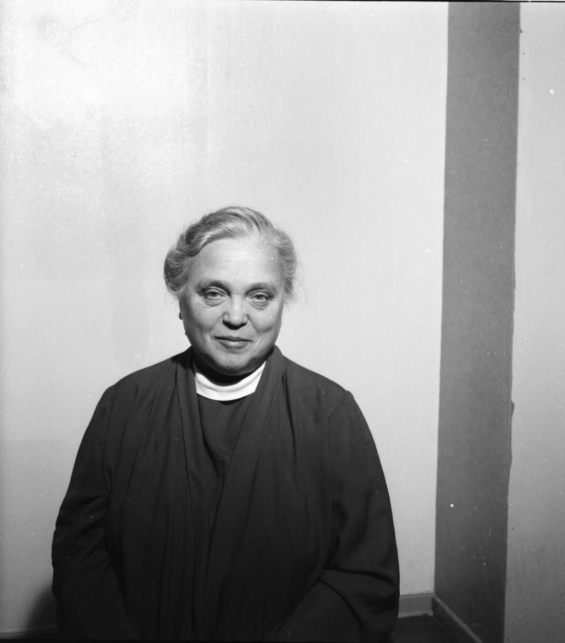 Mimmi Ekholm, 1958. Foto: Frisks foto (Uppsala stadsarkiv)
